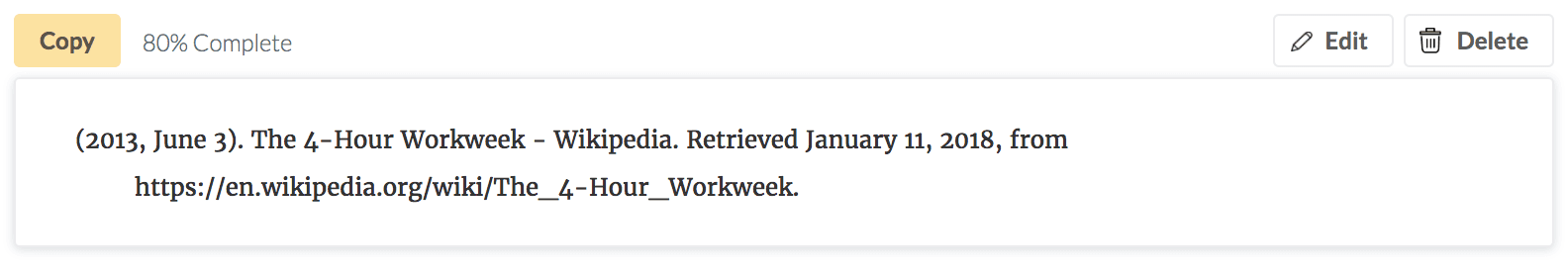 (2013, June 3). The 4-Hour Workweek - Wikipedia. Retrieved January 11, 2018, from https://en.wikipedia.org/wiki/The_4-Hour_Workweek.